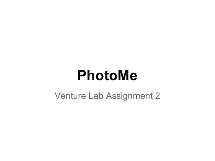 PhotoMeVenture Lab Assignment 2