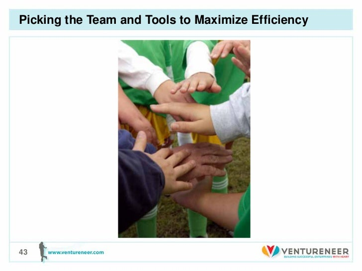 Picking the Team and Tools to Maximize Efficiency43
