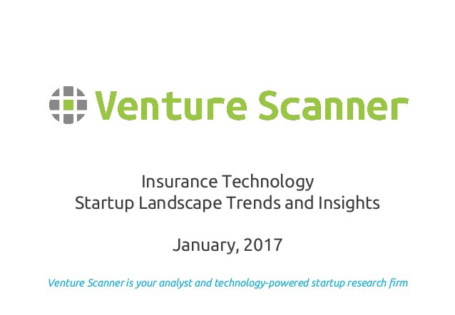 Venture Scanner is your analyst and technology-powered startup research firm Insurance Technology Startup Landscape Trends...
