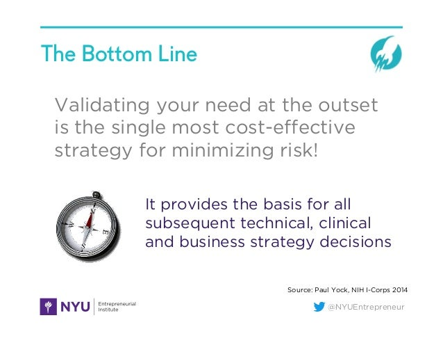 @NYUEntrepreneur The Bottom Line Validating your need at the outset is the single most cost-effective strategy for minimizi...