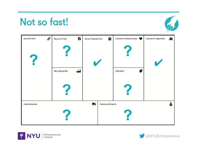 @NYUEntrepreneur ? ✔ ✔ ? ? ? ? ? ? Not so fast!