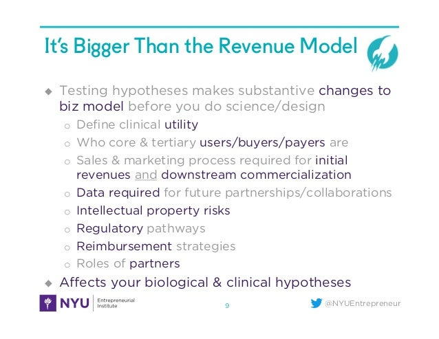 @NYUEntrepreneur It's Bigger Than the Revenue Model u Testing hypotheses makes substantive changes to biz model before y...