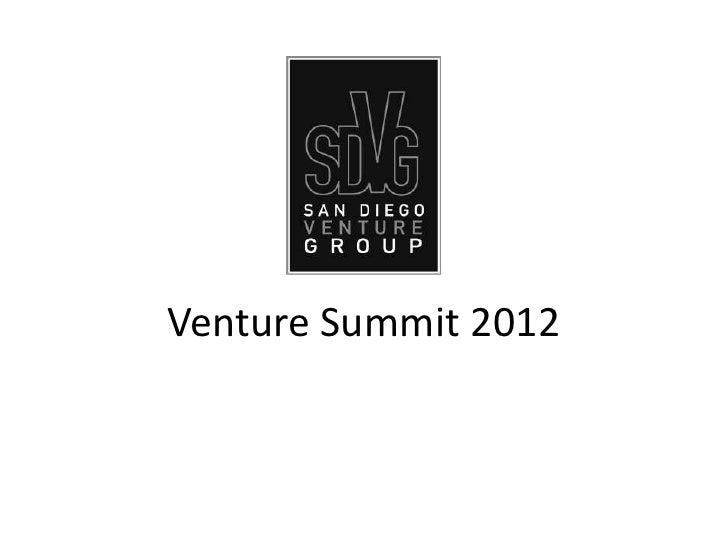 Venture Summit 2012