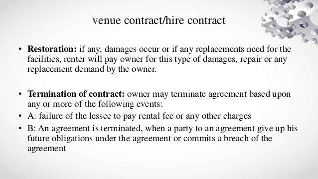 venue contract