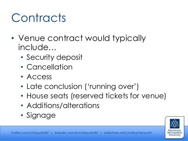 Venue management - Event Perspectives Series