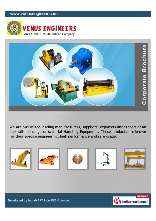 We are one of the leading manufacturers, suppliers, exporters and traders of anunparalleled range of Material Handling Equ...