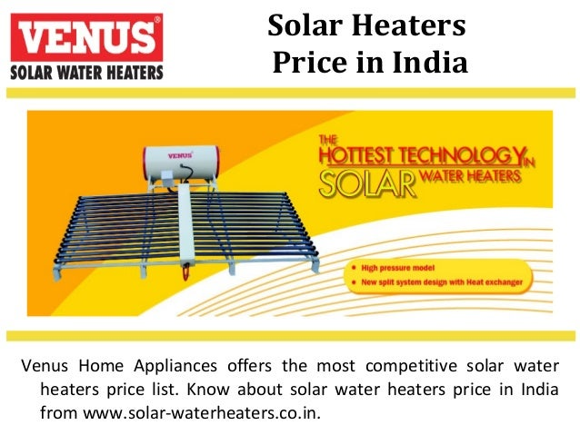 Venus solar water heaters solar heaters price sciox Images
