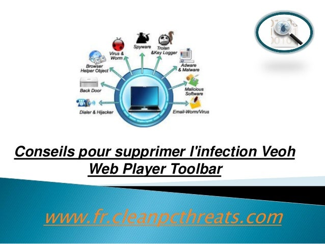 Conseils pour supprimer l'infection Veoh Web Player Toolbar  www.fr.cleanpcthreats.com