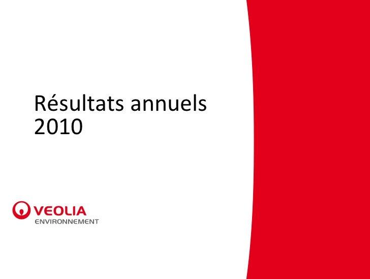 Résultats annuels2010