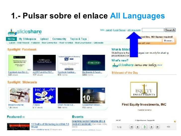 Ver Las Diapositivas en español de  SlideShare Slide 2