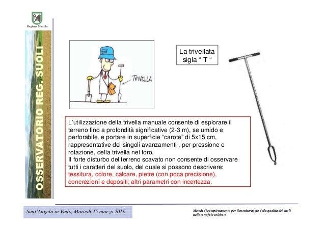 Metodi di campionamento per il monitoraggio della qualit for Utensili per prelevare campioni di terreno
