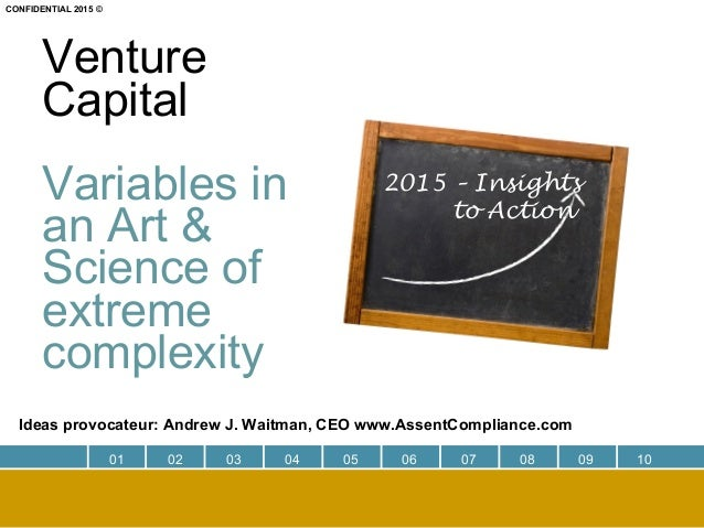 Venture Capital Variables in an Art & Science of extreme complexity Ideas provocateur: Andrew J. Waitman, CEO www.AssentCo...