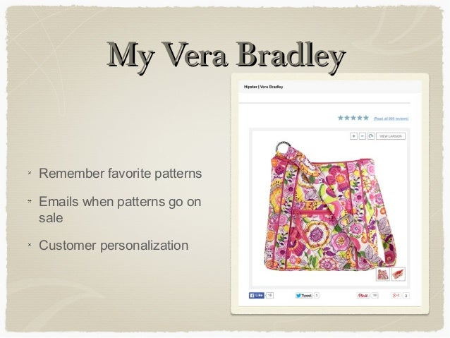 marketing analysis vera bradley Vera bradley probability of bankruptcy analysis of vera bradley probability of bankruptcy, probability of bankruptcy should not be confused with actual chance of a company to file for chapter 7, 11, 12 or 13 bankruptcy protection.