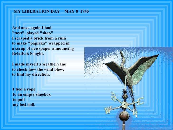 """I tied a rope to an empty shoebox to pull my lost doll. MY LIBERATION DAY  MAY 8  1945 And once again I had """"toys&quo..."""