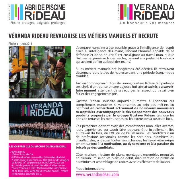 Communiqué De Presse Juin 2016 Veranda Rideau