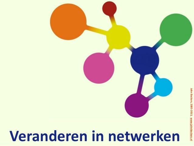 John Beckers, 2005-2013, www.johnbeckers.nl  Veranderen in netwerken