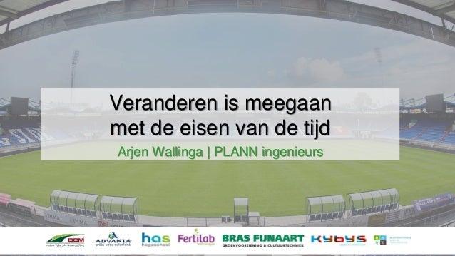 Veranderen is meegaan met de eisen van de tijd Arjen Wallinga | PLANN ingenieurs