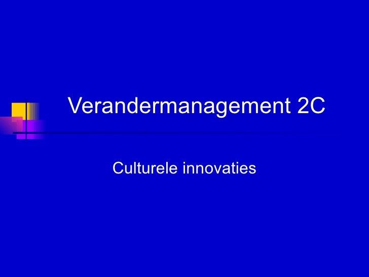 Verandermanagement 2C Culturele innovaties