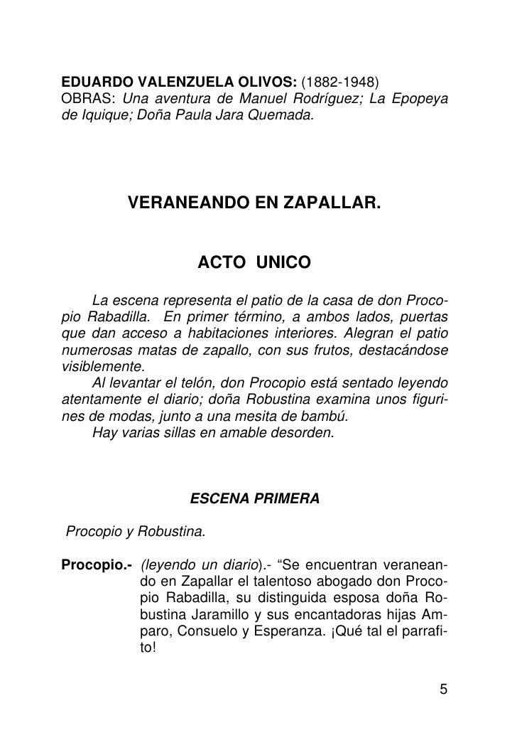 EDUARDO VALENZUELA OLIVOS: (1882-1948) OBRAS: Una aventura de Manuel Rodríguez; La Epopeya de Iquique; Doña Paula Jara Que...