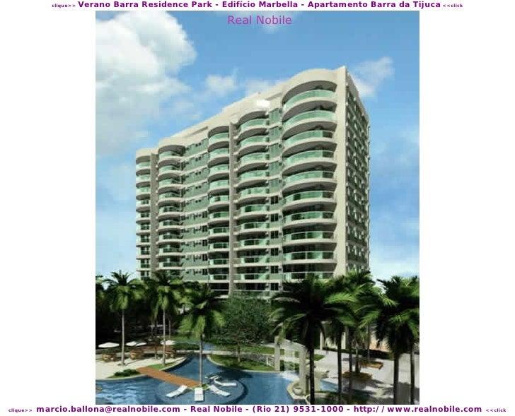Verano Barra Residence Park - Edifício Marbella - Apartamento Barra da Tijuca <<click               clique>>              ...