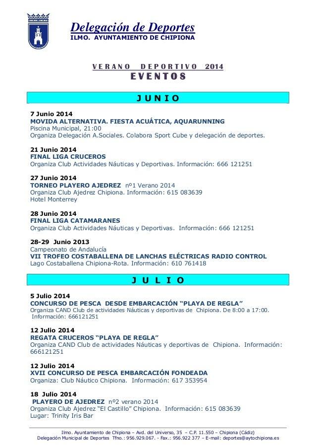 Verano deportivo 2014 act 4 agosto for Piscina municipal chipiona