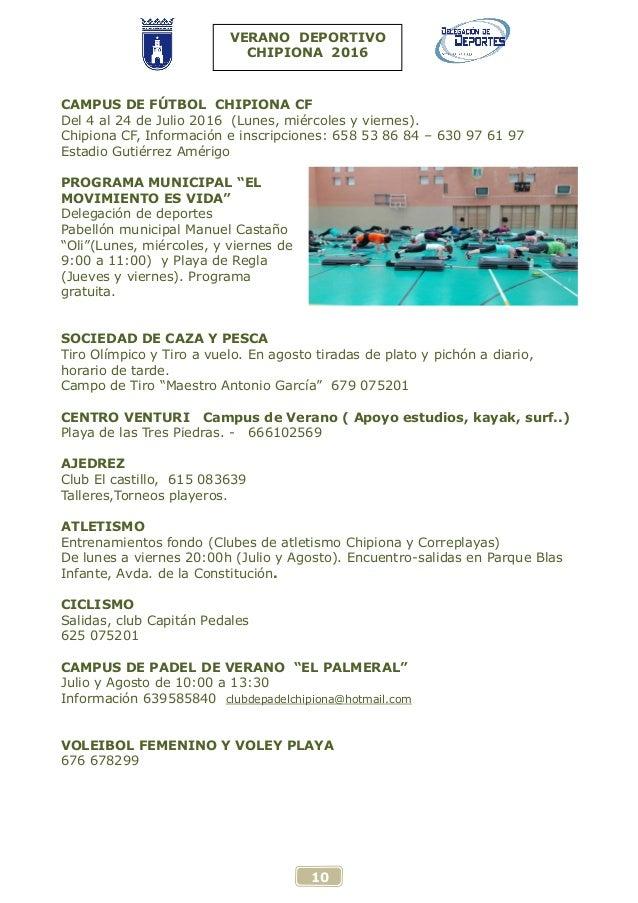 Verano deportivo 2016 for Piscina municipal chipiona