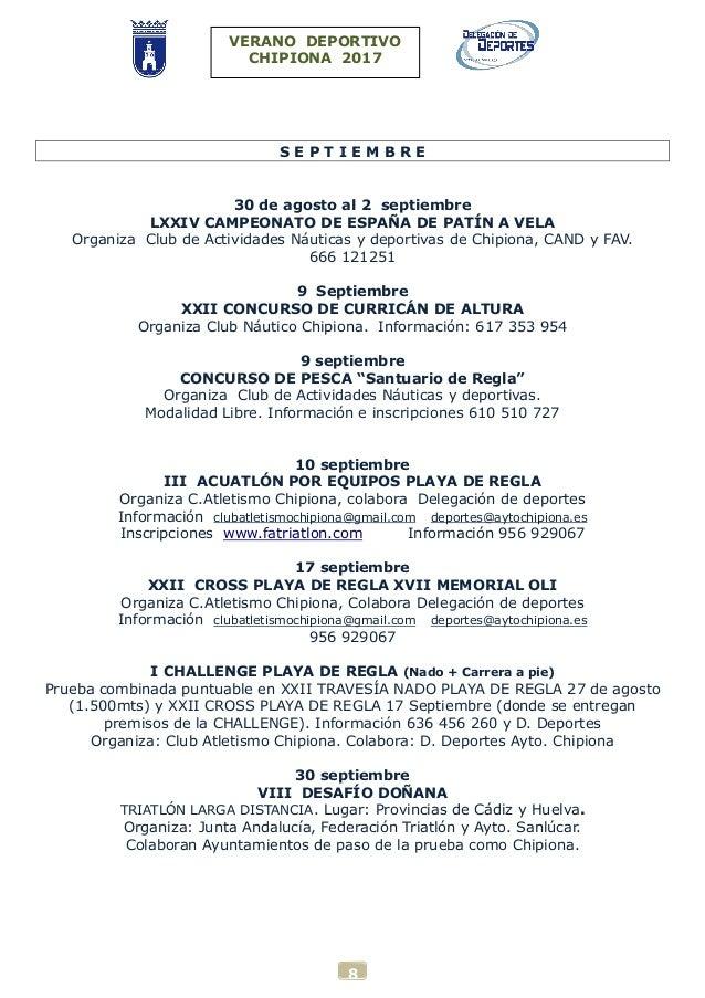Verano deportivo chipiona 2017 for Piscina municipal chipiona