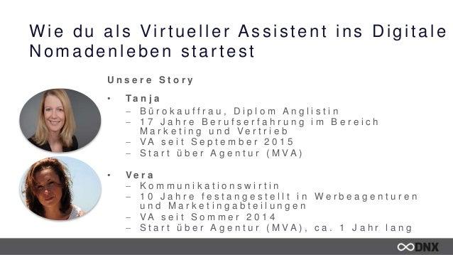 Wie du als Virtueller Assistent ins Digitale Nomadenleben startest U n s e r e S t o r y • T a n j a  B ü r o k a u f f r...