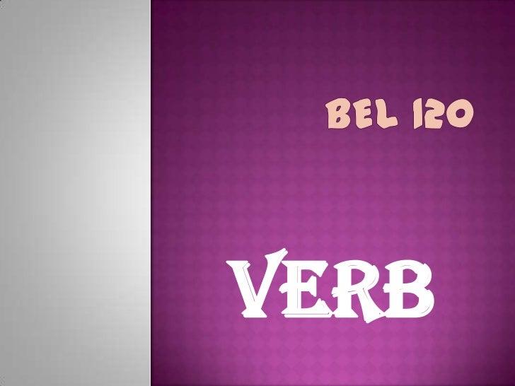 BEL 120<br />VERB<br />