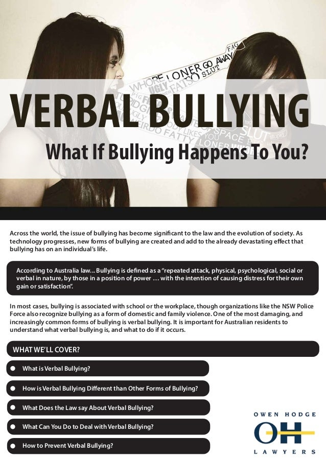 Bullying and worldwide issue