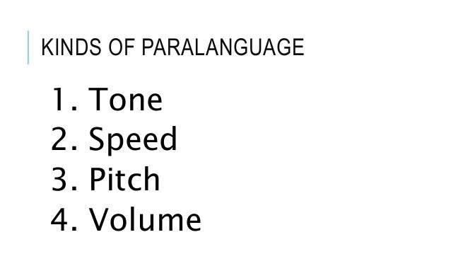 types of paralanguage