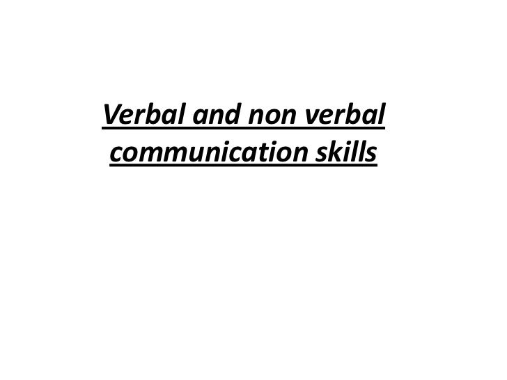 essay about verbal and nonverbal communication