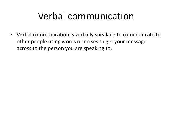 verbal and nonverbal communication relationship