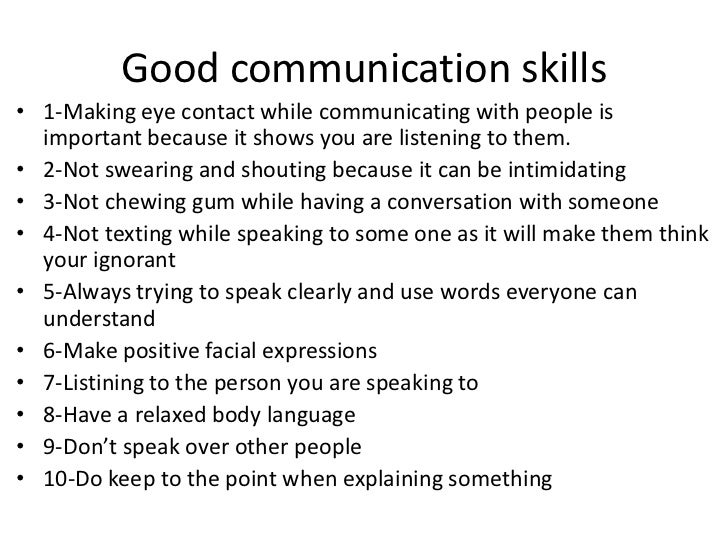Good Communication Tips