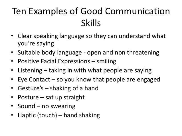 Verbal and Non Verbal Communication Skills