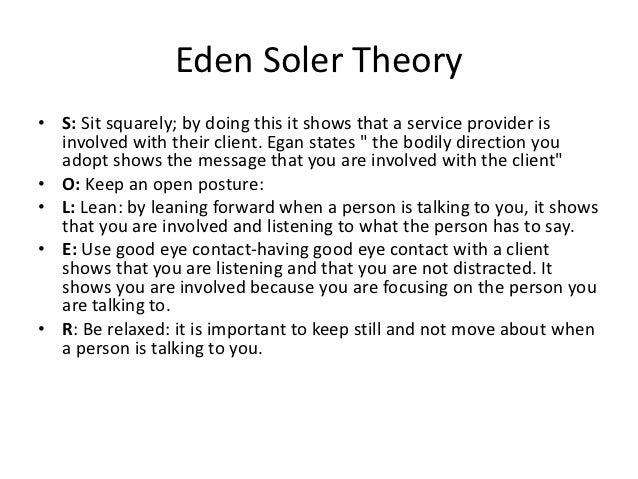 egans soler theory