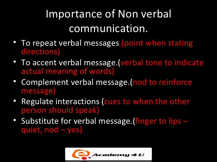 nonverbal messages Nonverbal communication (nvc) between people is communication through  sending and receiving wordless cues it includes the use of visual cues such as.