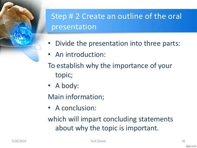 three purposes of oral presentations