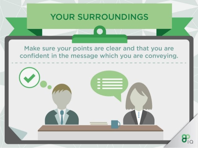 YOUR SURROUNDINGS  However,  if you are in an interview or meeting,  a loud voice isn't needed so it is important to alter...
