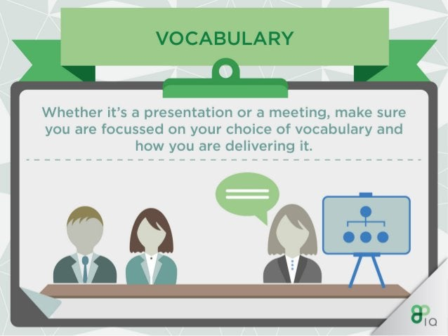 VOCABU L/ -RY  l I AAA  Concentrate on the language you use when you are talking to someone.