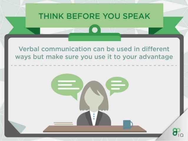 think before you speak verbal