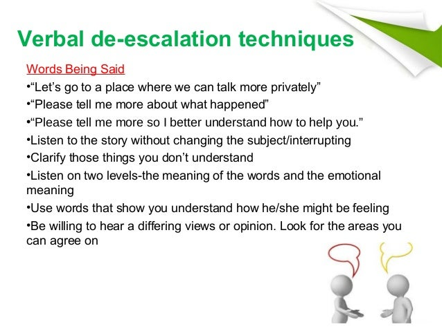 Verbal Deescalation Techniques In Mental Health Settings