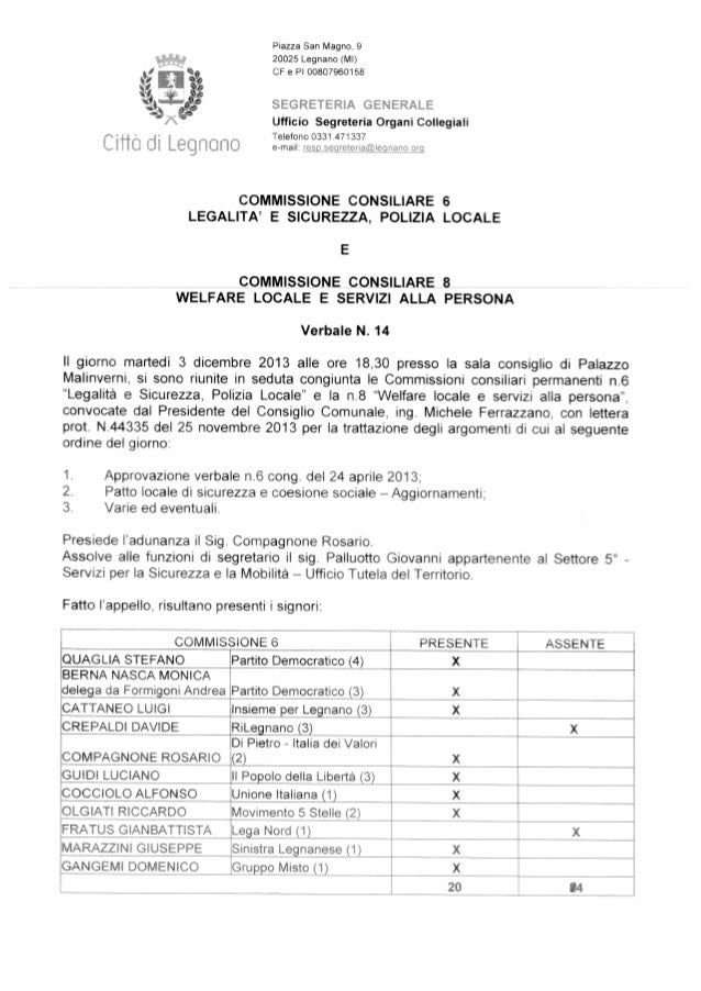 Verbale n. 14 comm cong 6+8 3 dicembre 2013