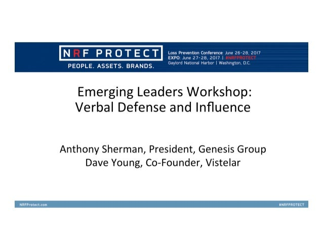 Conflict Management for Store Security Professionals Non-Escalation, De-Escalation and Crisis Intervention Tactics