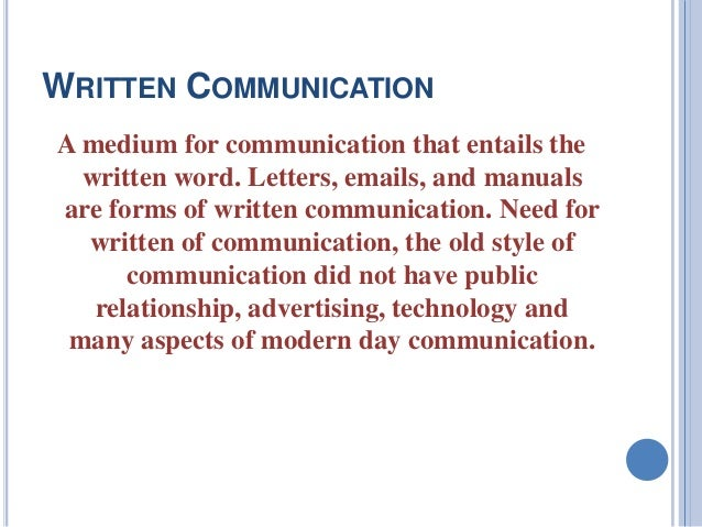 verbal and written communication The university of salford, the crescent, salford, m5 4wt, uk - 0161 295 5000.