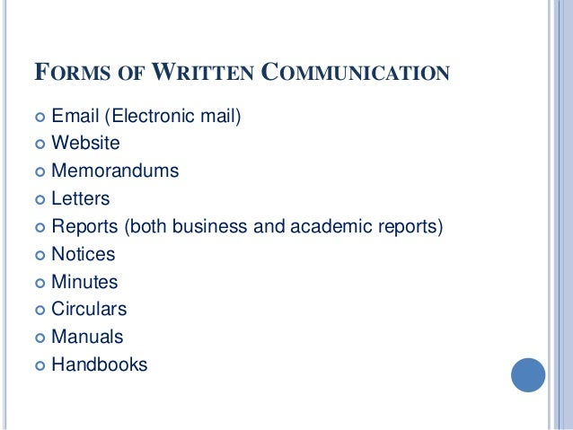 various forms of oral communication in english Oral presentation by iit  part of the series communication skills with dr t  by providing suitable examples, the students will be exposed to various forms of.