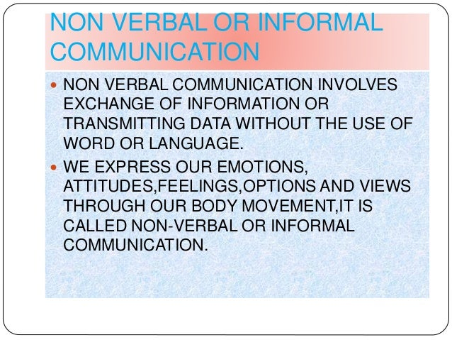 the importance of a non verbal communication english language essay The importance of communication in an organization can be summarized as follows:  non verbal communication  body language in communication.