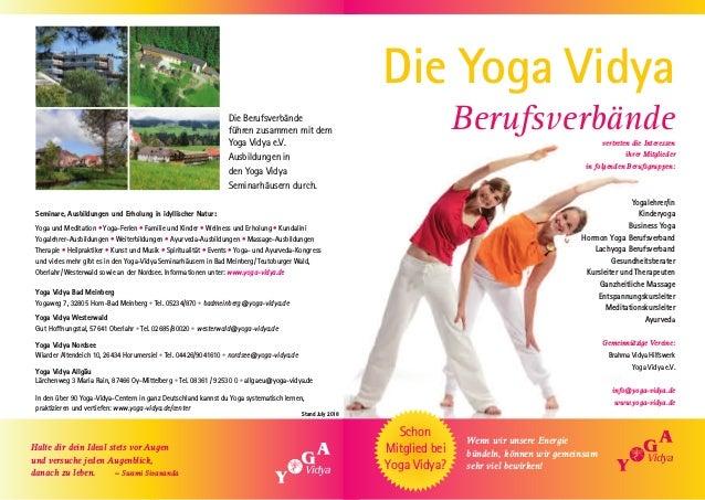 Yoga Vidya Berufverbände