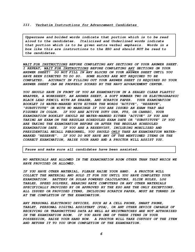 exam verbatim rh slideshare net US Navy Training Manuals BUPERSINST 1430.16F PDF