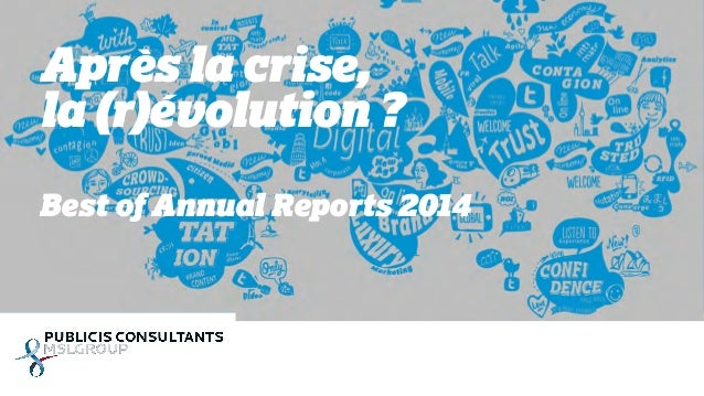Après la crise,  la (r)évolution ?  Best of Annual Reports 2014